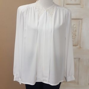 Vtg white blouse